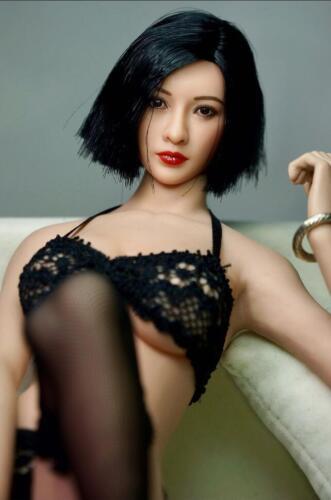 1//6 ZC TOYS woman head scuplt black short hair for SUNTAN phicen kumik US Seller