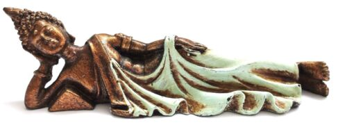 Thai liegender Buddha Budda 16 cm Statue Figur Deko Feng Shui Esoterik Asia