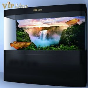Waterfall hd aquarium background poster fish tank for Aquarium waterfall decoration