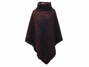 Mantello Melanzana Poncho Mantello Throw Collar Boho Jacket xBS5qETw8n