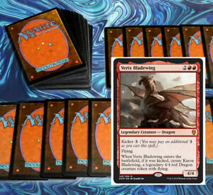 mtg-STANDARD-RED-DECK-Magic-the-Gathering-rares-60-cards-verix-aggro