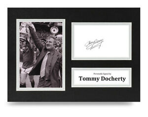 Tommy-Docherty-Signed-A4-Photo-Display-Man-Utd-Autograph-Memorabilia-COA