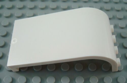 LEGO White 3x4x6 Curved Top Wall Panel Piece