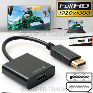 DisplayPort-DP-Male-to-HDMI-Female-Adapter-Display-Port-Converter-Cable-PC-NEW