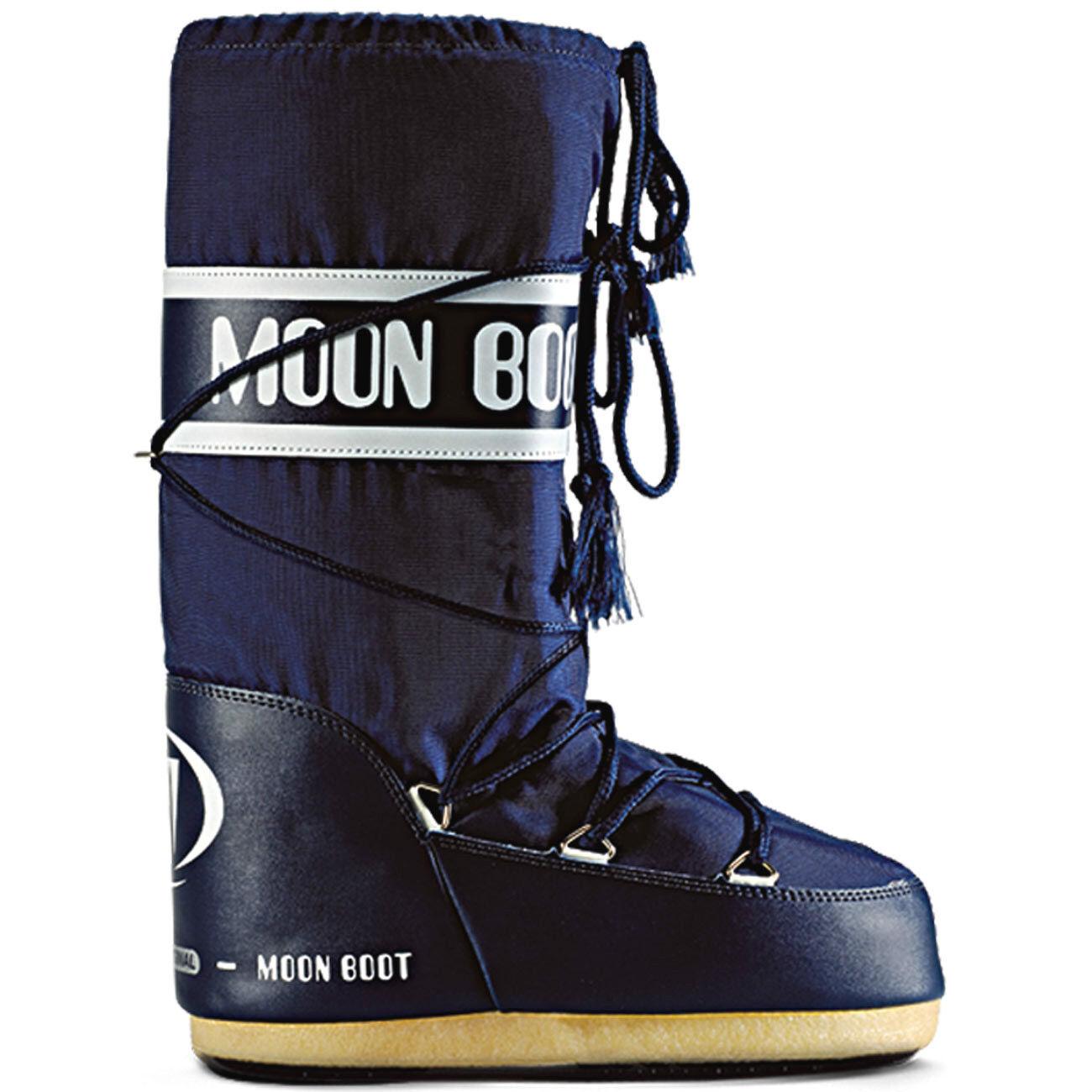 TECNICA Moonboots Moonboot Moon Boot Boots Nylon Schneestiefel Stiefel blau snow