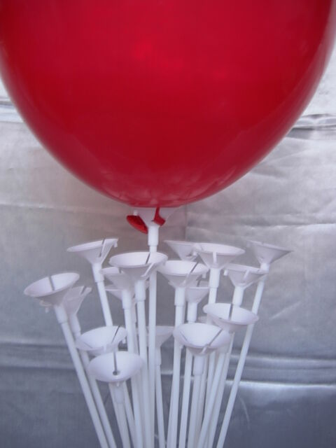 100 mixed( 50 dark pink, 25 blue and 25)Balloon Sticks and Cups No Helium