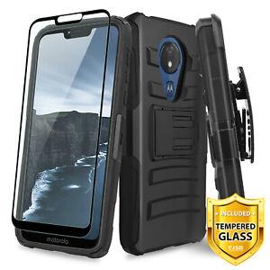 For-Motorola-Moto-G7-Power-Supra-Phone-Case-TJS-Saturn-Holster-Tempered-Glass