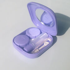 Unisex Cute Pocket Mini Contact Lenses Case Travel Kit Mirror Container Holder