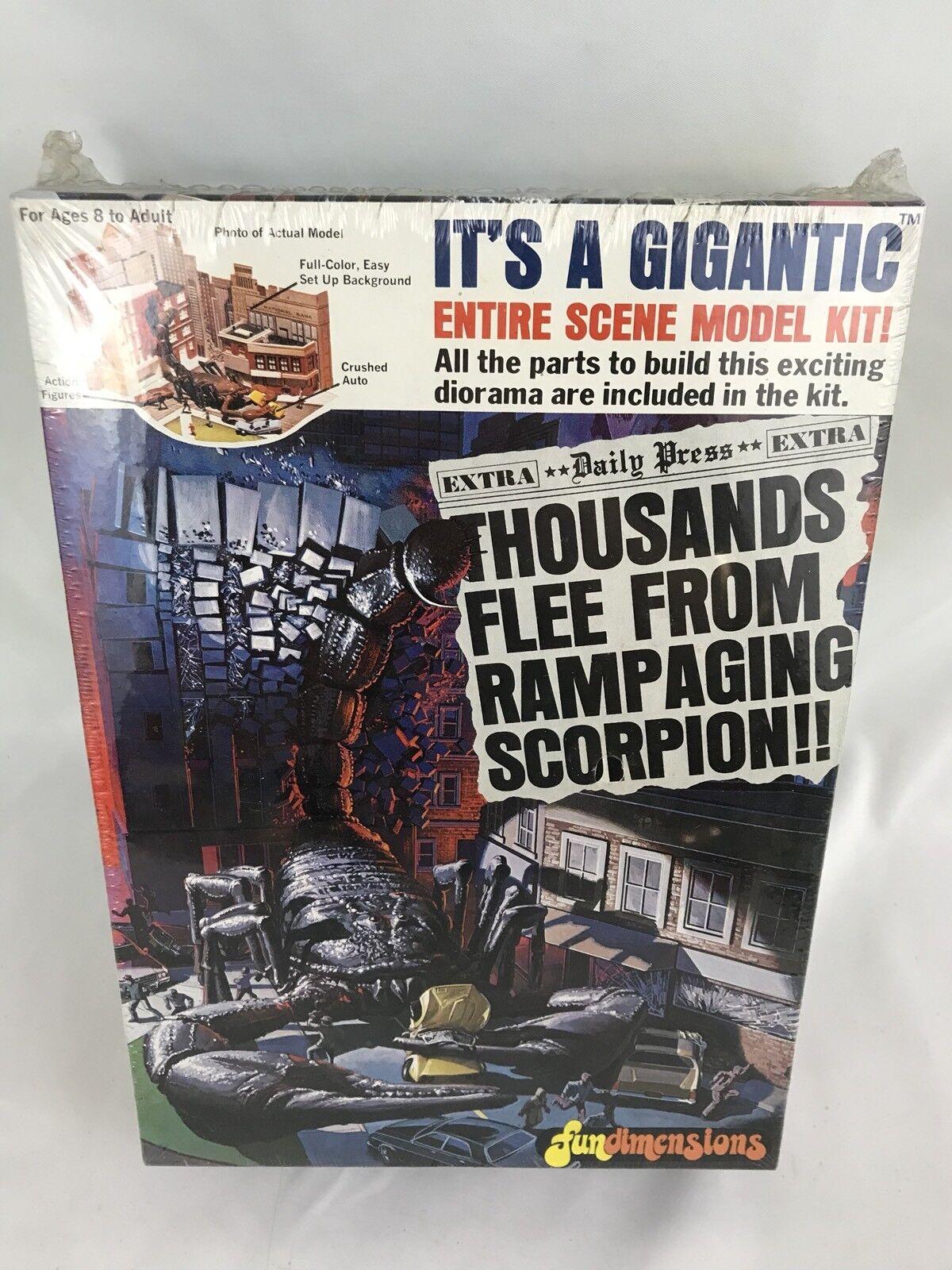 1970's Fun Dimensions Rampaging Scorpion Model Kit Rare Sealed New