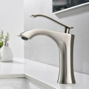 Stainless-Steel-Bathroom-Sink-Faucet-Vanity-Mixer-Tap-Deck-Mount-Lavatory-Spout