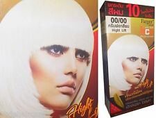 PERMANENT Hair Color Bleach Dye Creme Toner WHITE : 2 Step Bleach and Dye in One