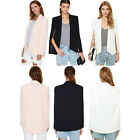 Fashion Women Slim Cape Casual Business Blazer Suit Lady Jacket Coat Outwear