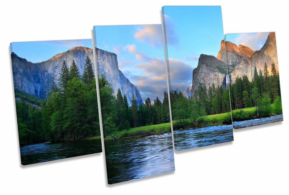 Yosemite Landscape Sunset MULTI CANVAS Wand Kunst Drucken Bild