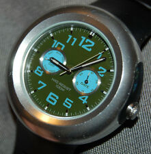 RARE! NIKE OREGON DAY/DATE BLUE/GREEN DIAL MEN's WATCH WA0049 NEW BATT!