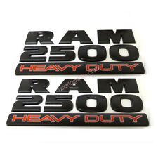 2x RAM 1500 Heavy duty Emblems Badge 3D Sticker Decals Nameplate for Dodge Ram 1500
