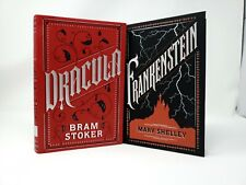 Dracula and Frankenstein by Stoker /& Shelley New Leather Bound Collectible Set
