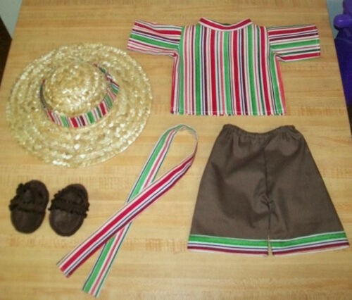 "FIESTA SHIRT+PANTS+BELT+HAT+SANDALS CINCO DE MAYO for 16/"" CPK Cabbage Patch Kids"