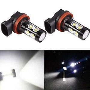 JDM ASTAR 2pcs 50W H11 High Power CREE Xenon White LED Fog DRL Lights Bulbs Lamp