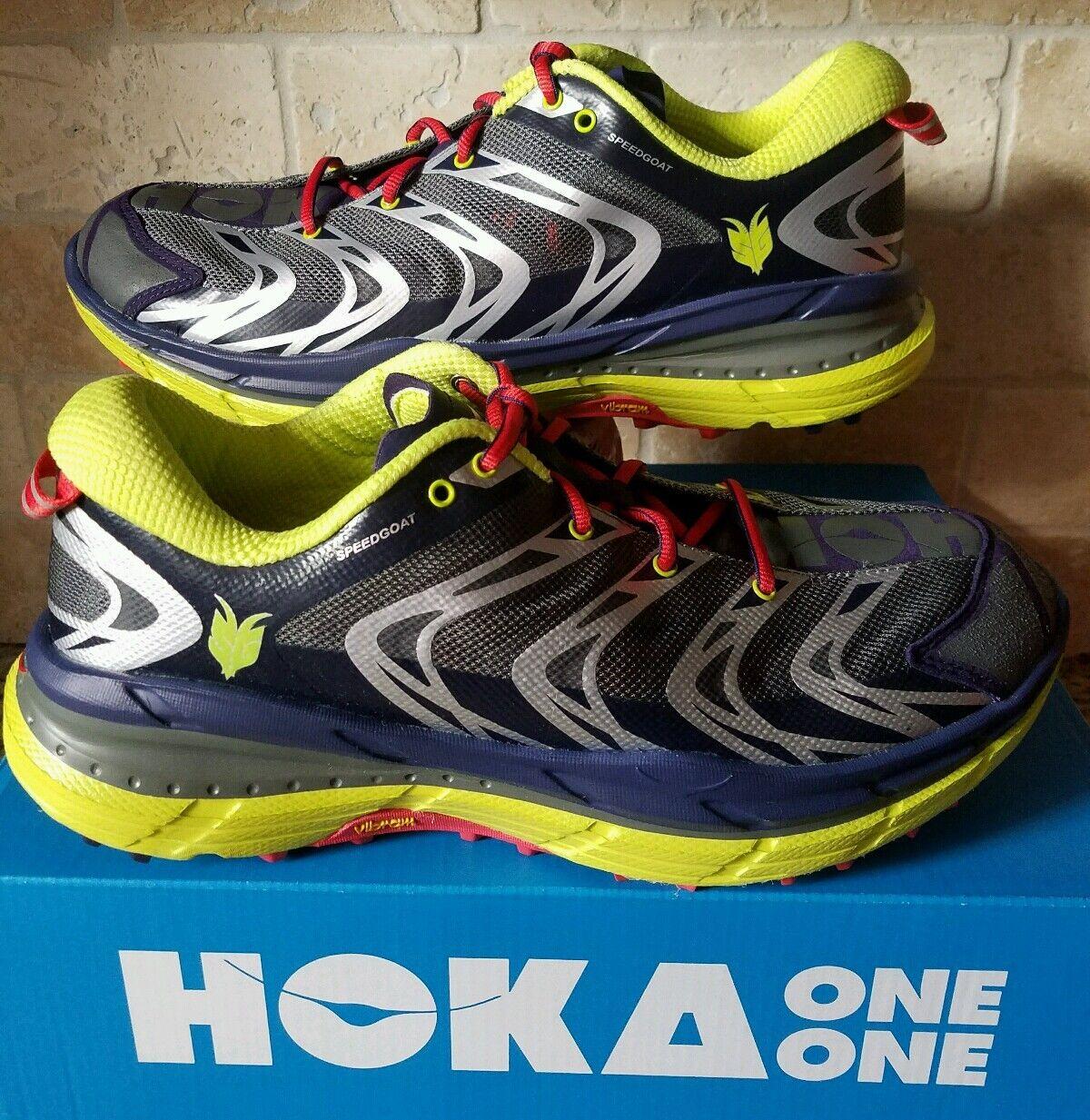 Hoka One One Speedgoat Astral Aura ácido Deporte Trail Senderismo Zapatos Talla 11.5 para hombres