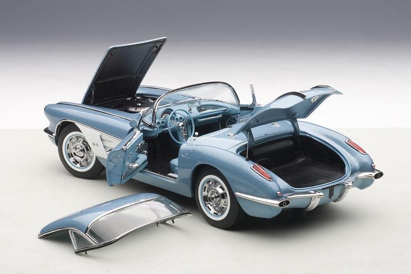 descuento de ventas 1 1 1 18 Autoart Chevrolet Corvette (plata azul) 1958 + Gratuito Vitrina  buscando agente de ventas
