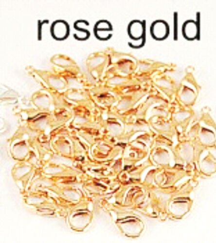 Gold Silver Rose Gold Rhodium Bronze Gun Metal Plated Lobster clasps x10 12x6mm