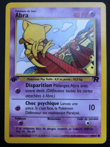 Carte Pokemon ABRA 49//82 Commune Team Rocket EDITION 1 FR NEUF