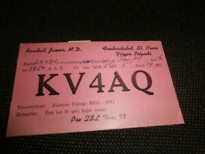 carte QSL ancienne VIRGIN ISLANDS 1952 41ELAjxs-09164420-550043461