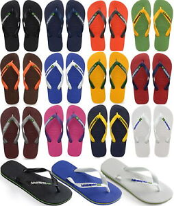 New-Original-Havaianas-Brazil-Logo-Flip-Flops-Beach-Sandals-All-Sizes-Colors
