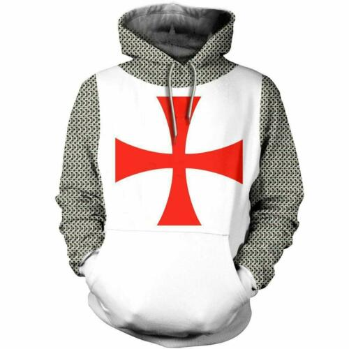 Unisex Knights Templar cosplay 3D Print Pullover Casual Sweater Sweatshirt Top