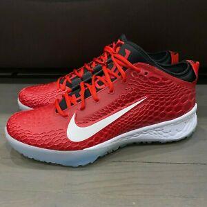 Intento queso reserva  Nike Turf 5 béisbol fuerza Zoom Trucha Blanco/Rojo/Negro AH3374-601 Hombre  Talla 11.5   eBay