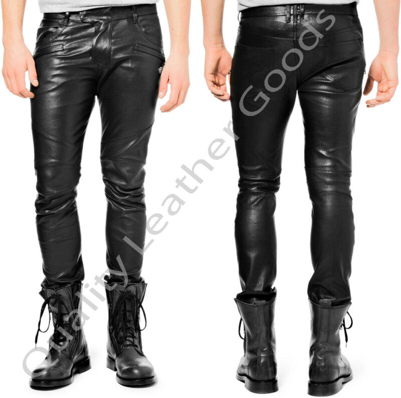 BESPOKE GENUINE LEATHER Mens THIGH FIT LUXURY PANTS JEANS TROUSERS BREECHES BLUF