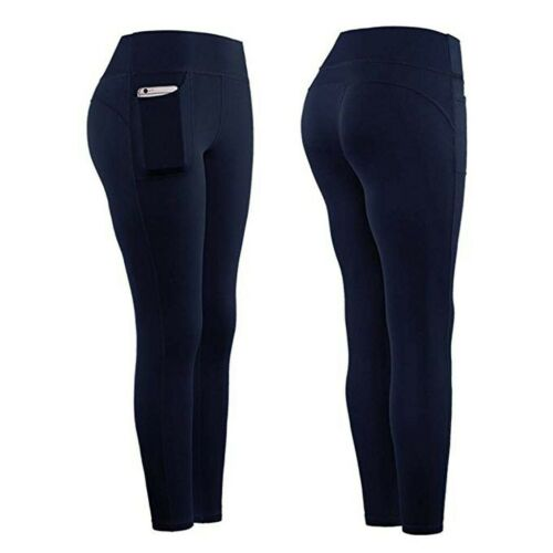 Women/'s Stretch Yoga Leggings Fitness Running Sports Gym Pockets Active Pants