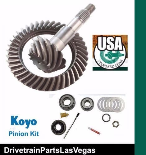 "USA Standard GM Chevy 8.6/"" 4.11 Ratio Ring /& Pinion Gear Set Install Kit 00-08"