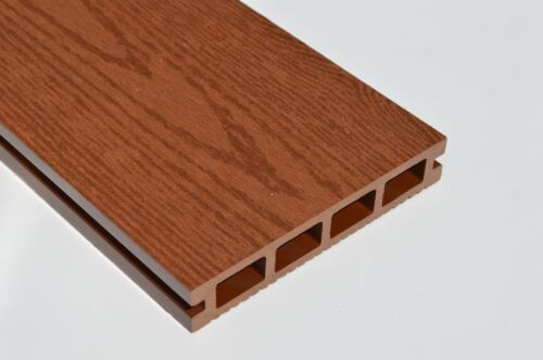 Wood Plastic Composite Decking 140mm x 25mm x 2900mm NEW Woodgrain Brown Red