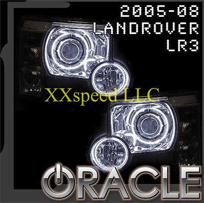 ORACLE Land Rover LR3 05-09 WHITE LED Head + Foglight Halo Angel Demon Eyes Kit