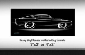 Nice New Ford Muscle Parts Vinyl Banner 4x2/' Mustang Fairlane Torino Cobra GT