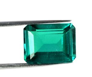 17.50 Ct Colombian Green Emerald Gems Emerald Cut 100% Natural Certified V9194