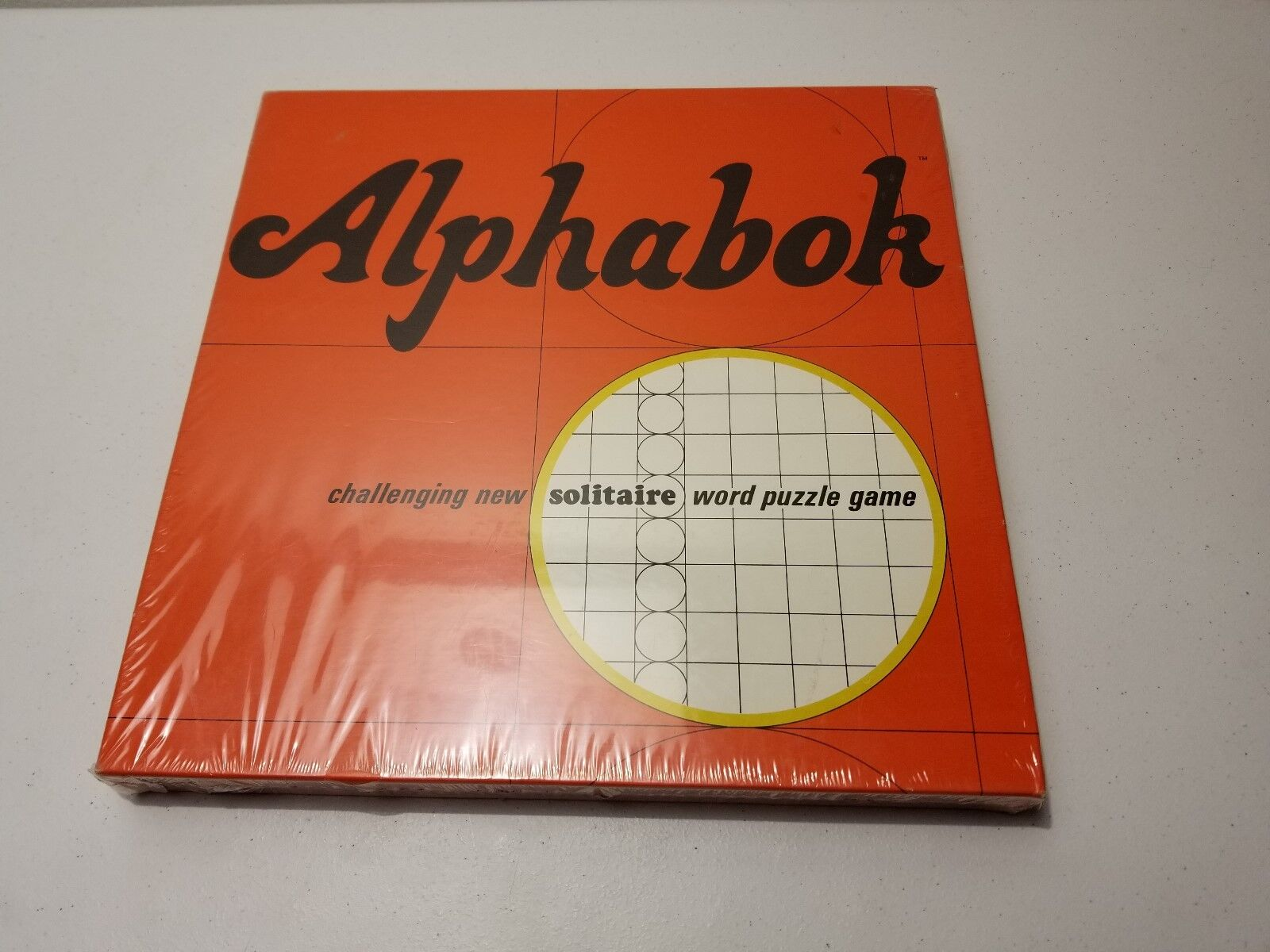 Alphabok Challenging Solitaire Word Puzzle Game Board Game