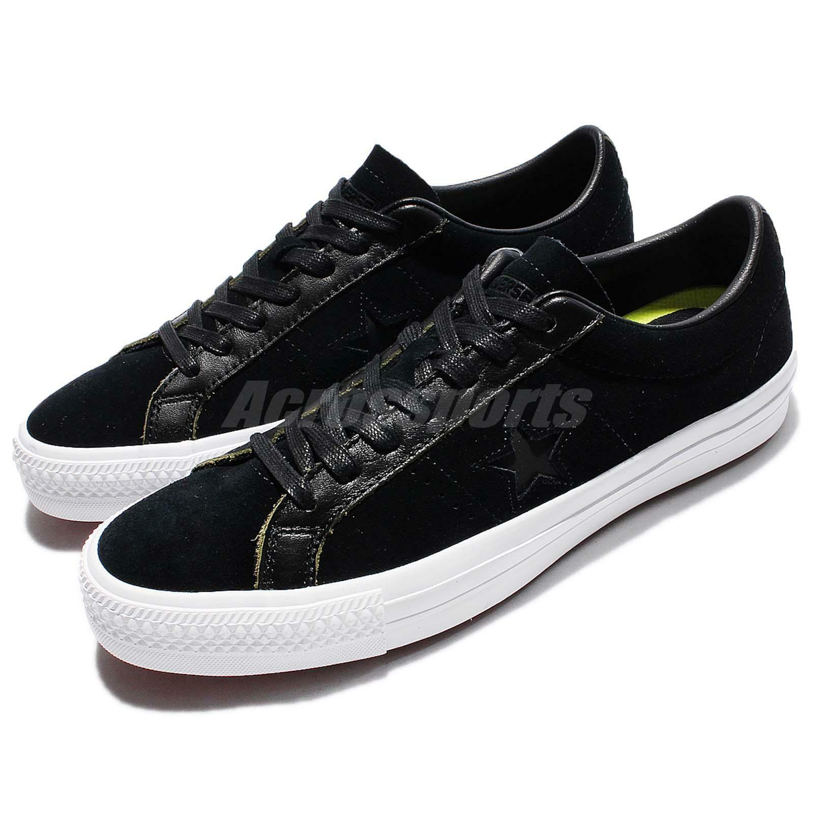 Converse One Star Pro Ruboff Leather Low Top Noir Men Classic Chaussures 155524C