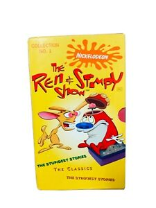 Ren-And-Stimpy-Rare-Vhs-Box-Set-Of3-Videos-Stinky-amp-Stupidest-Stories-Classics