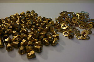 M5-SOLID-BRASS-HEXAGON-DOME-NUTS-WITH-FREE-M5-BRASS-WASHERS-10-20-OR-50-PACKS