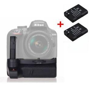 Muti-Power-Battery-Grip-Hand-Holder-2-EN-EL14-Battery-For-Nikon-D3400-Camera