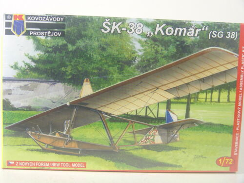 """Kovozavody Bausatz  1:72-0025 #E Tschechischer Schulgleiter SK 38 /""""Komar/"""""""