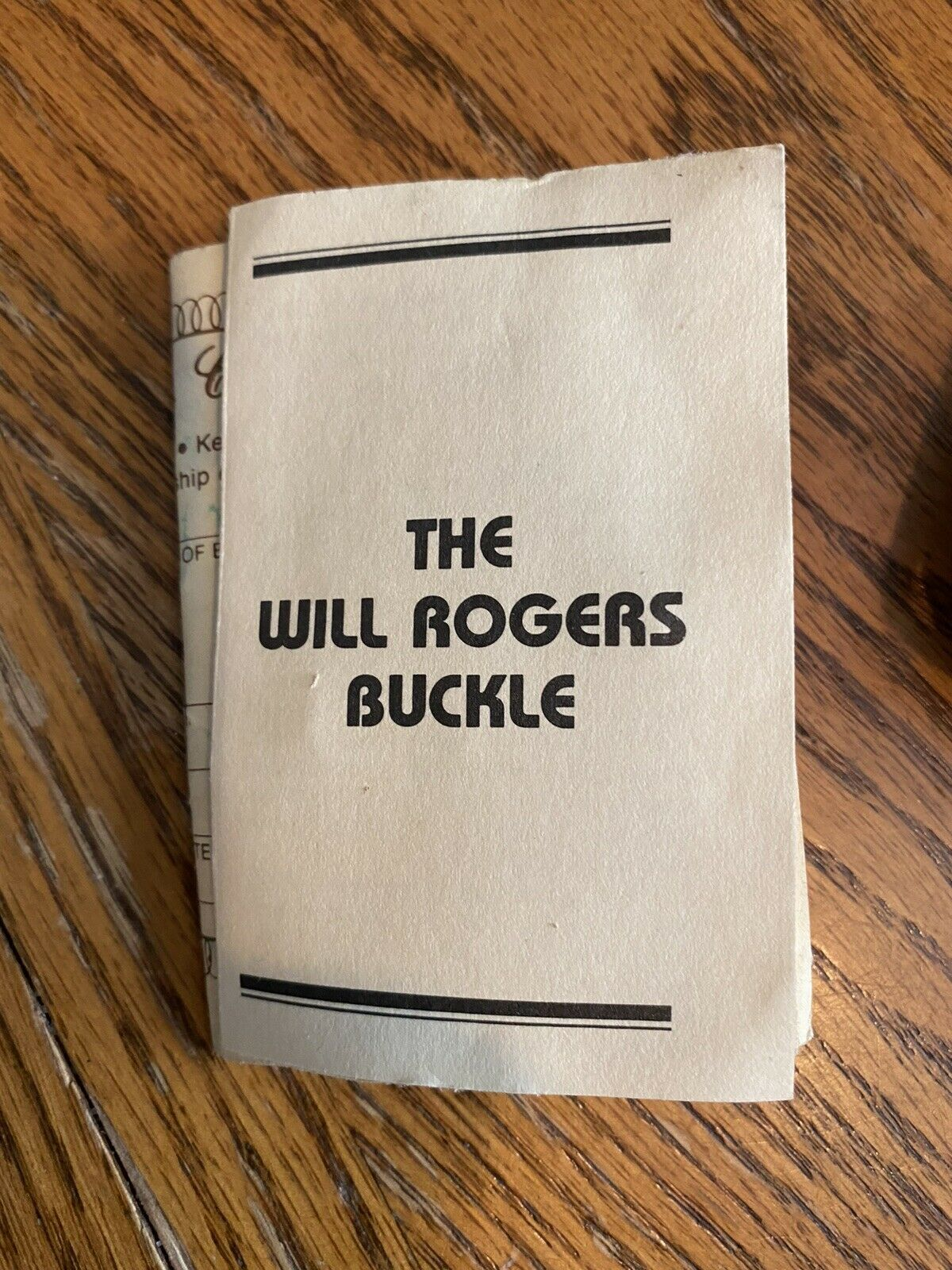 The Will Rogers Belt Buckle Vintage  - image 4