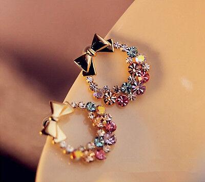 New Fashion 1pair Women Lady Elegant Crystal Rhinestone Ear Stud