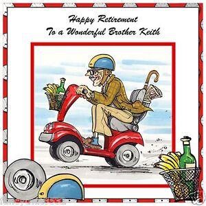 Handmade Personalised Retirement Card Scooter Wheelie
