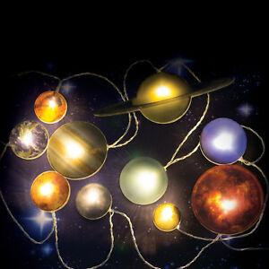 Lichterkette Sonnensystem Partybeleuchtung Planeten Weltall Weltraum