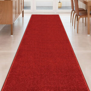 Custom-Size-Stair-Hallway-Runner-Rug-Rubber-Back-Non-Skid-RED-CARPET-22-034-26-034-31-034