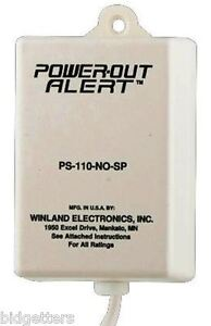 Sensaphone-PowerOut-Alert-Model-PS-110-Plugs-into-any-110-VAC-receptacle-outlet