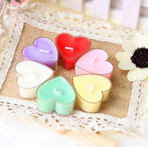 9pcs heart candle wedding party romantic tea light candles home decor